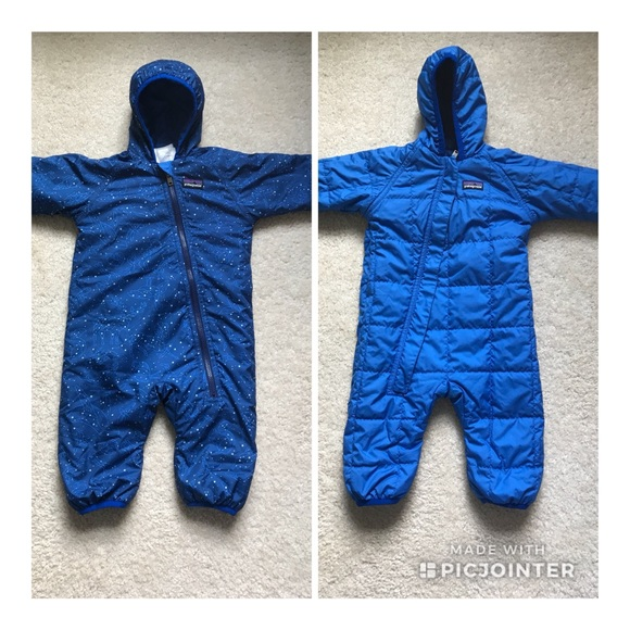 7b38f9554 Patagonia Jackets & Coats | Reversible Puff Ball Bunting Snow Suit ...